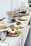 Wedding catering food, buffet table Royalty Free Stock Photos