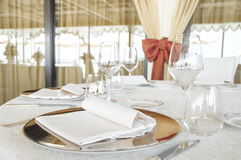 Wedding catering setting Stock Photo