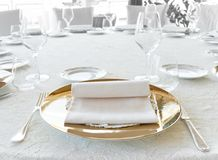 Wedding catering setting Stock Photos