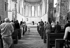 Wedding in cathedral Royalty Free Stock Photos