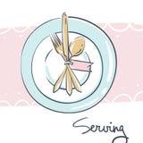 Wedding celebration attribute. Table serving Stock Image
