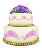 Wedding celebration cake Stock Photography