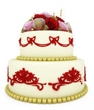 Wedding celebration cake Royalty Free Stock Images