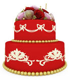 Wedding celebration cake Stock Image