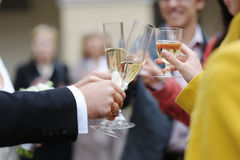 Wedding celebration with champagne Stock Photo