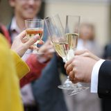 Wedding celebration with champagne Royalty Free Stock Photography