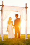 Wedding celebration outdoor in daylight royalty free stock images