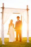 Wedding celebration outdoor in daylight stock photos