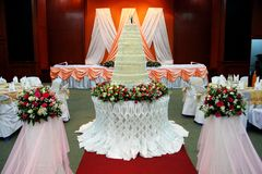 Wedding celebration party, convention hall Royalty Free Stock Images