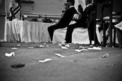 Wedding ceremonies. Process of the wedding, black and white Stock Photography