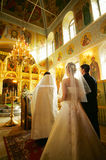Wedding Ceremony. In church Christianity royalty free stock images