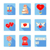 Wedding ceremony accessories set. Royalty Free Stock Image