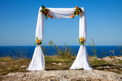 Wedding ceremony arc Royalty Free Stock Image