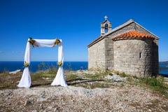Wedding ceremony arc Stock Photos