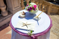 Wedding ceremony arc Royalty Free Stock Images