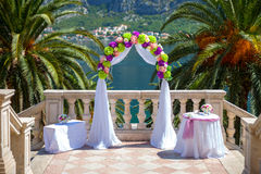 Wedding ceremony arc Royalty Free Stock Images