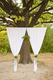 Wedding ceremony arc in park. Wedding ceremony arc outdoor summer Royalty Free Stock Photography