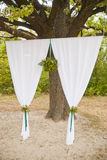 Wedding ceremony arc in park. Wedding ceremony arc outdoor summer Stock Photo