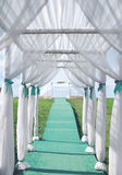 Wedding ceremony, arch, bridal decorations Royalty Free Stock Images