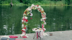 Wedding ceremony arch stock video footage