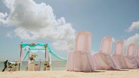 Wedding ceremony on the beach stock video footage