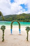 Wedding ceremony on the beach Royalty Free Stock Image