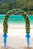 Wedding ceremony on the beach Stock Photography