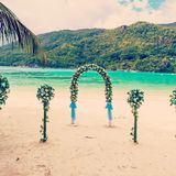 Wedding ceremony on the beach Royalty Free Stock Image