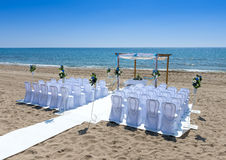 Wedding ceremony on the beach Stock Images