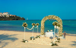 Wedding ceremony on a beach Royalty Free Stock Image