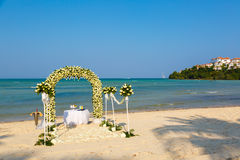 Wedding ceremony on a beach Stock Image