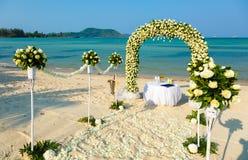 Wedding ceremony on a beach Stock Photo