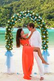 Wedding ceremony on the beach Stock Photography