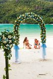 Wedding ceremony on the beach Royalty Free Stock Images