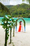 Wedding ceremony on the beach Royalty Free Stock Photography