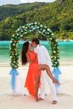 Wedding ceremony on the beach Stock Image