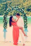 Wedding ceremony on the beach Stock Photos