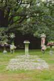 Wedding ceremony in a beautiful garden Royalty Free Stock Photos