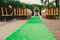 Wedding ceremony in a beautiful garden Royalty Free Stock Photos