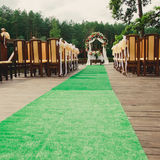 Wedding ceremony in a beautiful garden Stock Images