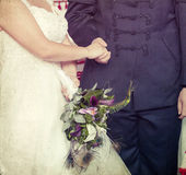 Wedding ceremony: bride and groom Stock Images