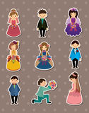 Wedding ceremony - bride and groom stickers Stock Photos