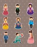 Wedding ceremony - bride and groom stickers Stock Photos