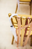 Wedding ceremony chair with umbrella Royalty Free Stock Photography