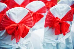 Wedding ceremony chairs Royalty Free Stock Images