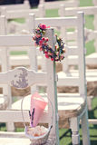 Wedding ceremony chairs Royalty Free Stock Photos