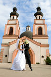Wedding ceremony in church Royalty Free Stock Photo