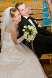 Wedding ceremony in church Stock Photo