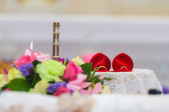 Wedding ceremony in church Royalty Free Stock Images