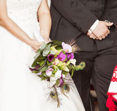 Wedding ceremony in church Royalty Free Stock Photos